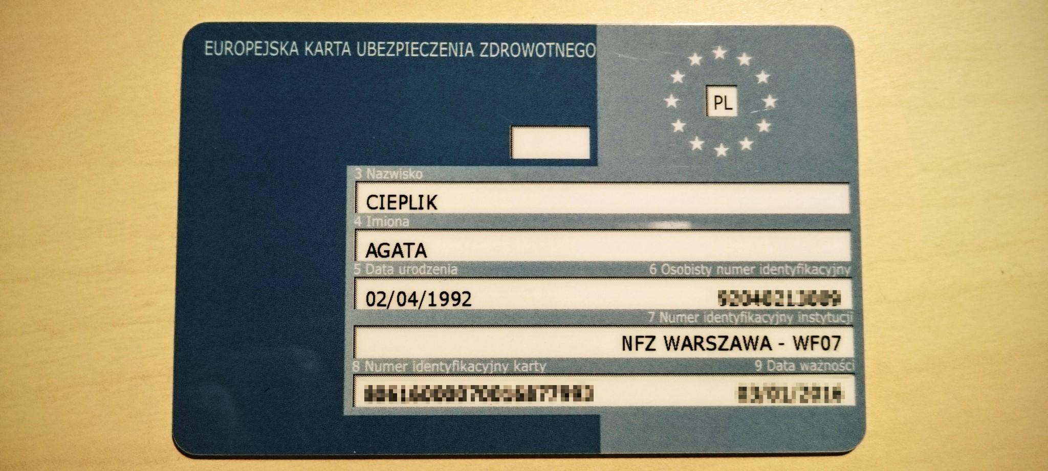 Karta Ubezpieczenia Europa.Ekuz Czyli Europejska Karta Ubezpieczenia Zdrowotnego Cieplik