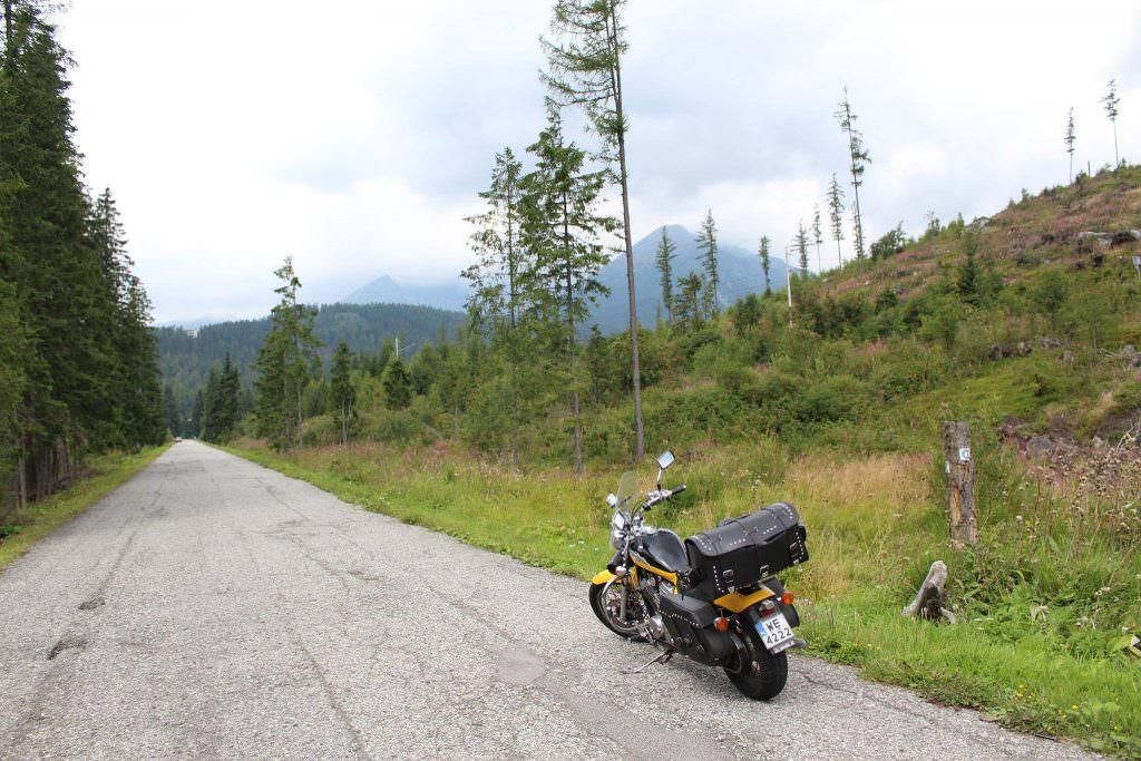 Honda Shadow w Tatrach