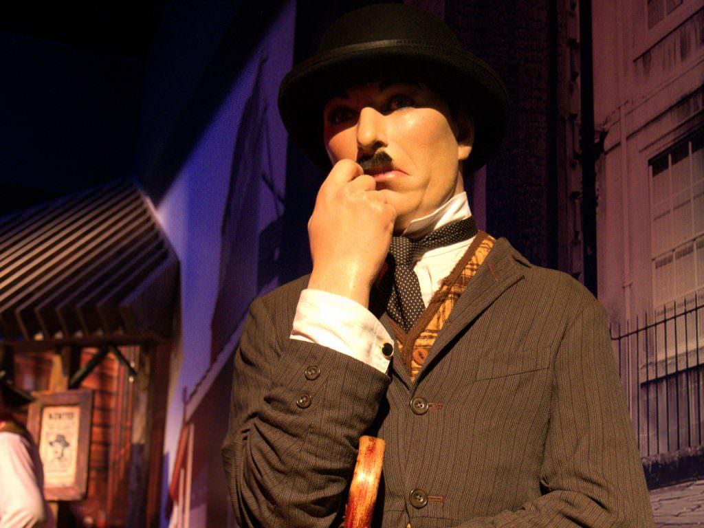Charlie Chaplin w muzeum figur woskowych